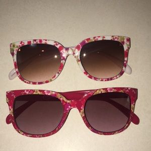 Flower Print Sunglasses